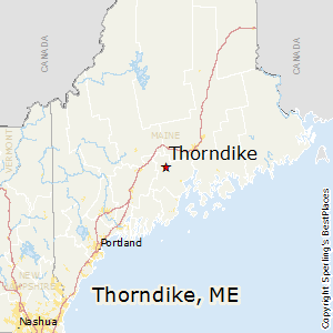 Thorndike,Maine Map