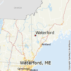 Waterford,Maine Map