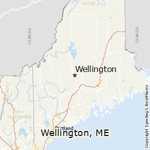 Wellington,Maine Map