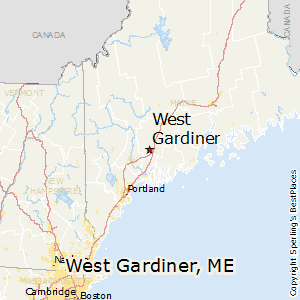West_Gardiner,Maine Map