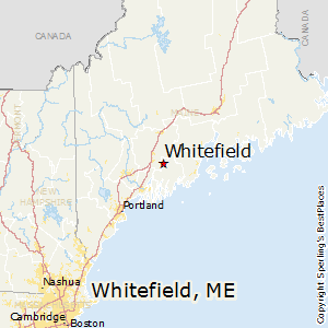 Whitefield,Maine Map