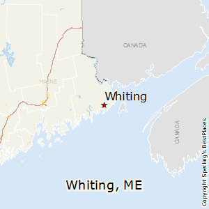 Whiting,Maine Map