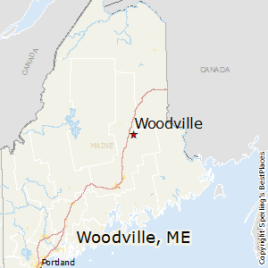 Woodville,Maine Map