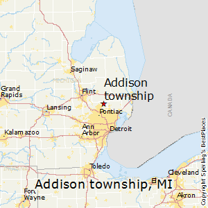 Addison Michigan Map.Best Places To Live In Addison Township Michigan