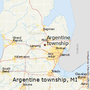 Argentine_township,Michigan Map