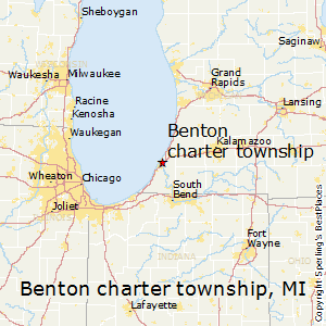 Benton_charter_township,Michigan Map