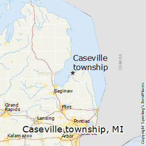 Caseville_township,Michigan Map