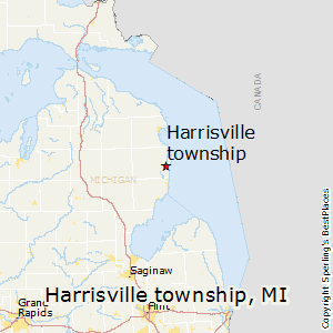 Harrisville_township,Michigan Map