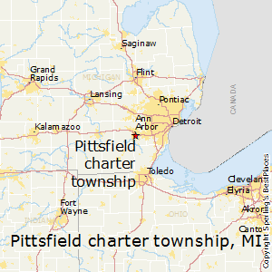 Pittsfield_charter_township,Michigan Map