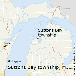 Suttons_Bay_township,Michigan Map