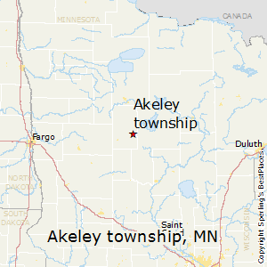Akeley_township,Minnesota Map