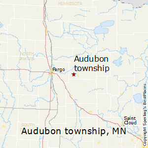 Audubon_township,Minnesota Map