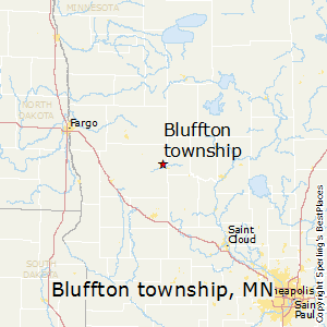 Bluffton_township,Minnesota Map