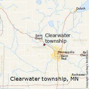 Clearwater_township,Minnesota Map