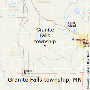 Granite_Falls_township,Minnesota Map