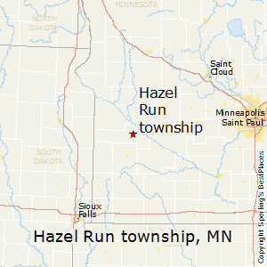 Hazel_Run_township,Minnesota Map