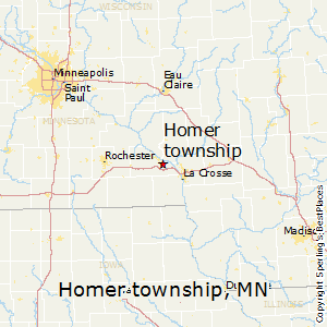 Homer_township,Minnesota Map