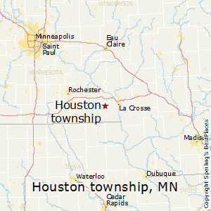 Houston_township,Minnesota Map