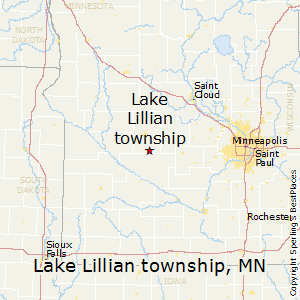 Lake_Lillian_township,Minnesota Map