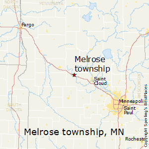 Melrose_township,Minnesota Map