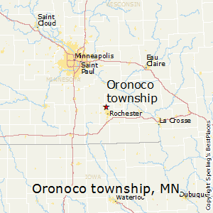 Oronoco_township,Minnesota Map