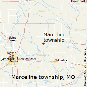 Marceline_township,Missouri Map