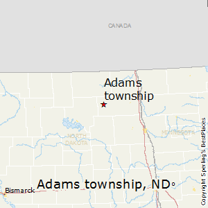 Adams_township,North Dakota Map
