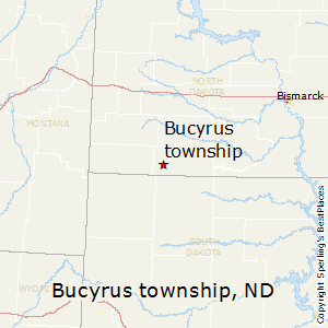 Bucyrus_township,North Dakota Map