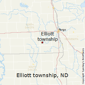 Elliott_township,North Dakota Map