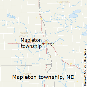Mapleton_township,North Dakota Map