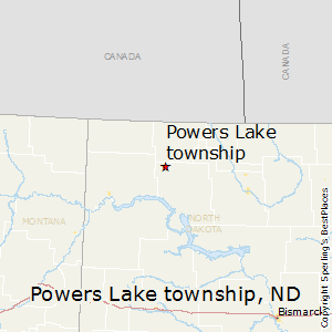 Powers_Lake_township,North Dakota Map