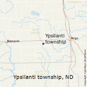Ypsilanti_township,North Dakota Map
