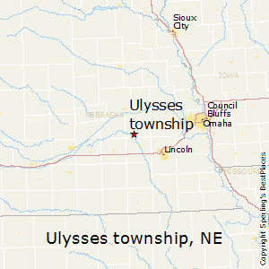 Ulysses_township,Nebraska Map