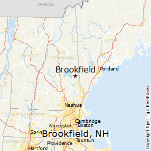Brookfield,New Hampshire Map