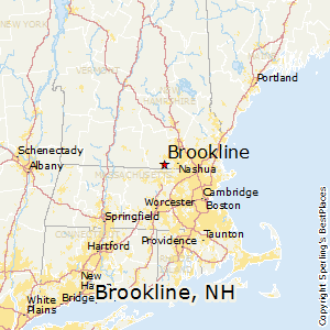 Brookline,New Hampshire Map