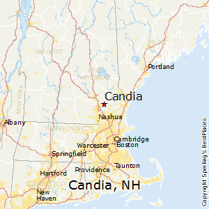 Candia,New Hampshire Map