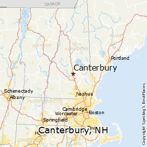 Canterbury,New Hampshire Map