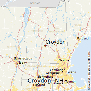 Croydon,New Hampshire Map