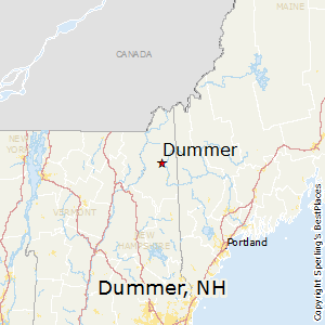 Dummer,New Hampshire Map