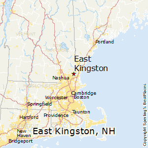 East_Kingston,New Hampshire Map