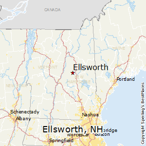 Ellsworth,New Hampshire Map