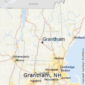 Grantham,New Hampshire Map