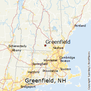 Greenfield,New Hampshire Map