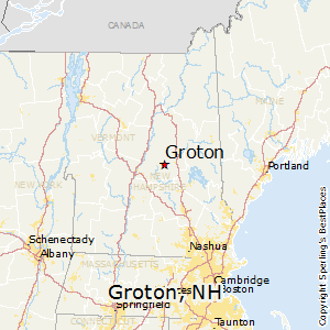 Groton,New Hampshire Map