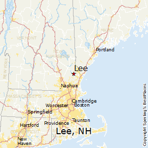 Lee,New Hampshire Map