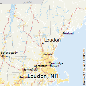 Loudon,New Hampshire Map