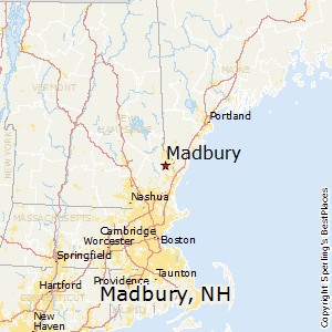 Madbury,New Hampshire Map
