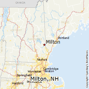 Milton,New Hampshire Map
