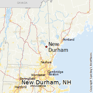 New_Durham,New Hampshire Map