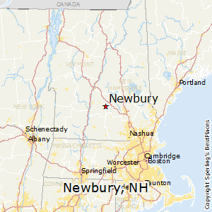 Newbury,New Hampshire Map